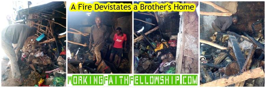 Collage brother John Omondi house burns down Kibera Slum