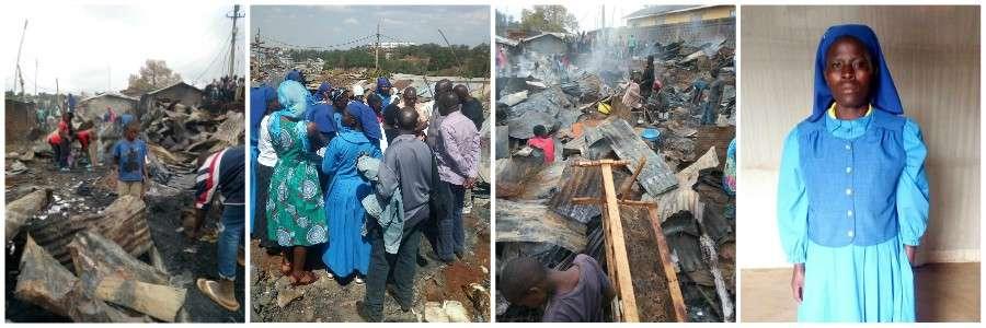 Fire in Kenya Kibera Slum 2019 9 collage