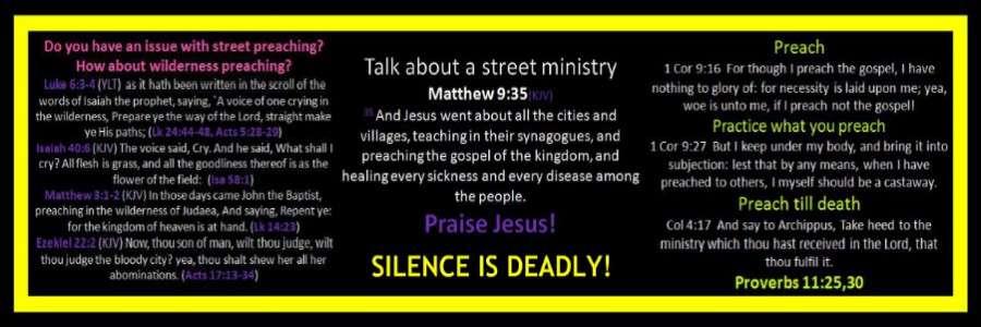 STREET OPEN AIR PREACHING BANNER