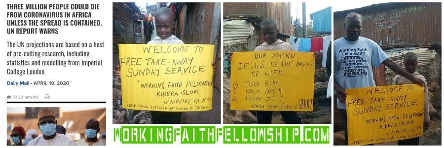 GMFC Working Faith Fellowship Kibera Slum Covid-19 Outreach banner collage
