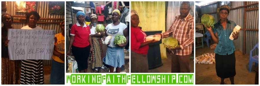 Covid 19 Relief Market GMFC WFF Kibera Slum Nairobi Kenya May 11th 2020