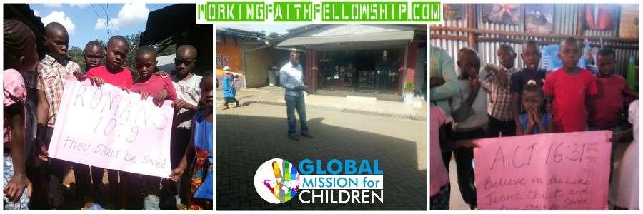 GMFC WFF Kibera Slum Preaching Jesus Christian Mission Kenya Banner