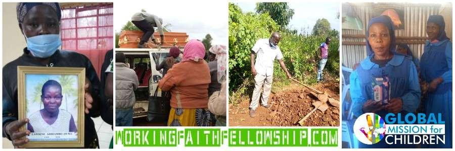 lorine funeral kibera slum AfriPads Kenya