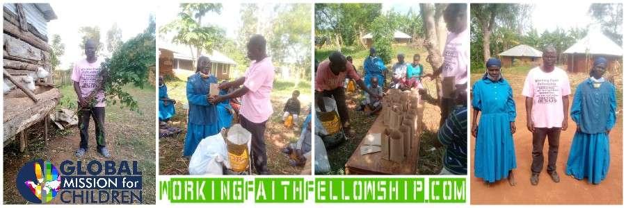 Siaya Banner Jesus World Vision widows Sponsor a Child Kenya